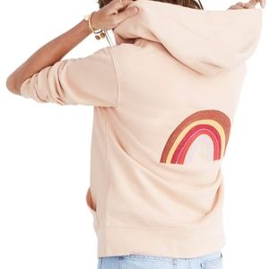 Miles by MADEWELL Embroidered Rainbow Zip Hoodie M